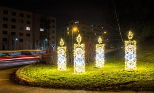 Vianočná výzdoba v Trenčíne 2017