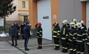 Hasičov v obci Pobedim navštívili predstavitelia prezídia HaZZ v rámci výjazdovej porady