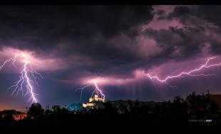 Lightning storm Trenčín 19.7.2015