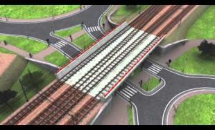 Vizuál železničnej trate Zlatovce - Trenčín